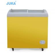 SD/SC-258Y 258Liter Curved Glass Door Solar Ice Cream Freezer