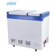 BCD-388 388Liter Double Temperature dc 12v 24v / Battery Powered Solar Deep Chest Freezer Fridge