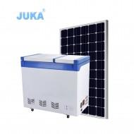 BCD-208 208Liter Double Temperature dc 12v 24v / Battery Powered Solar Deep Chest Freezer Fridge