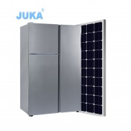 BCD-125T 125Liter DC 12V 24V Upright Top Freezer Three Doors Solar Refrigerator